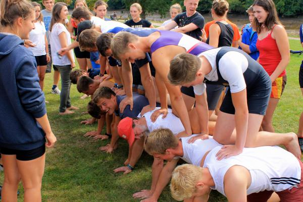 Ridiculous Regatta Human Pyramid