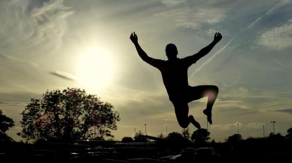 Matt Cunningham Jumping Shadow Gloucestershire